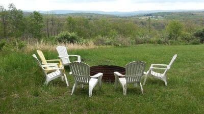 Mountain Plateau Rustic Fire Pit--perfect site to catch the evening sunset!
