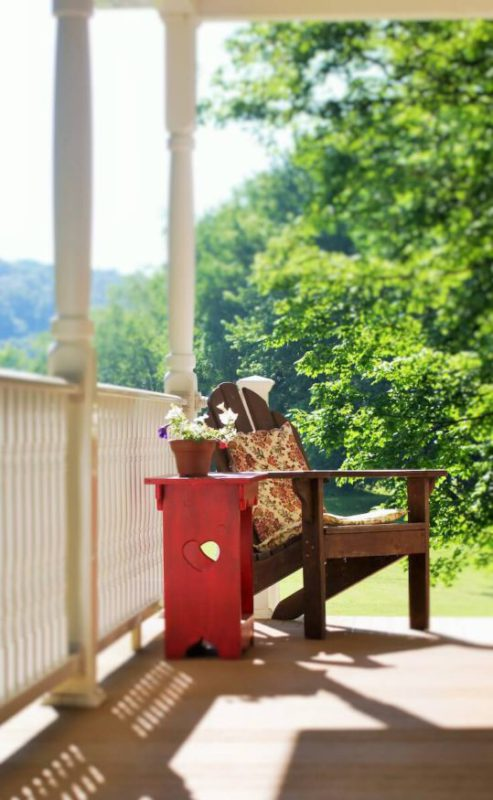 ...best seat on the porch to catch a cool breeze...