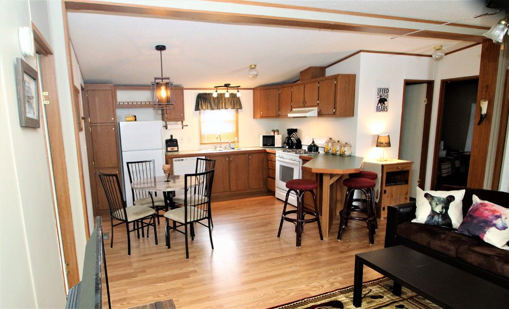Open concept kitchen, dining and living room!