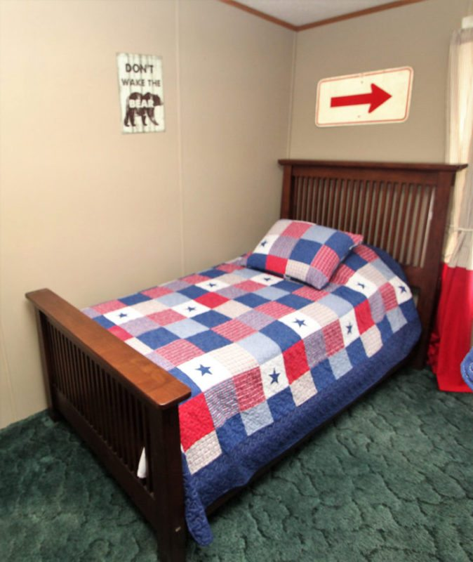 3rd bedroom include a separate twin and bunk bed set