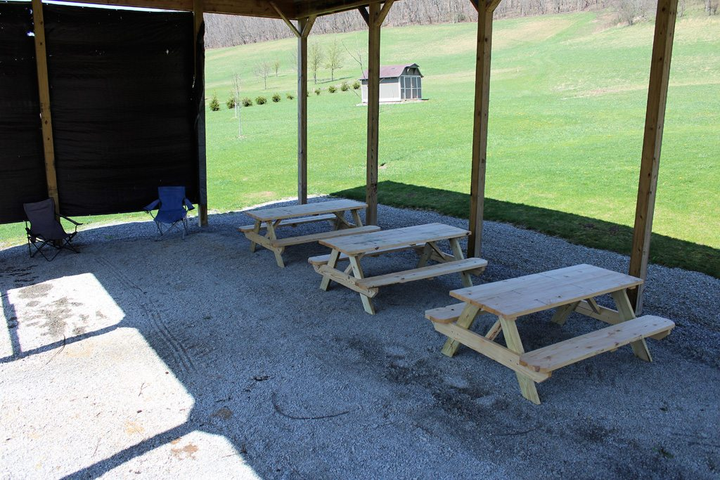 Large, covered area for a picnic! Perfect to invite some friends over.