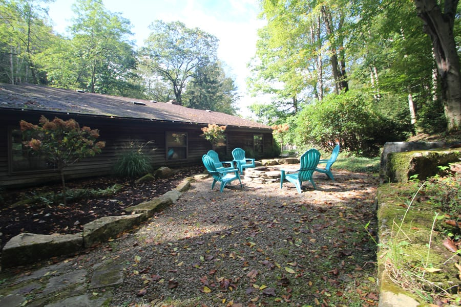 Lots of room at this private back yard to gather!