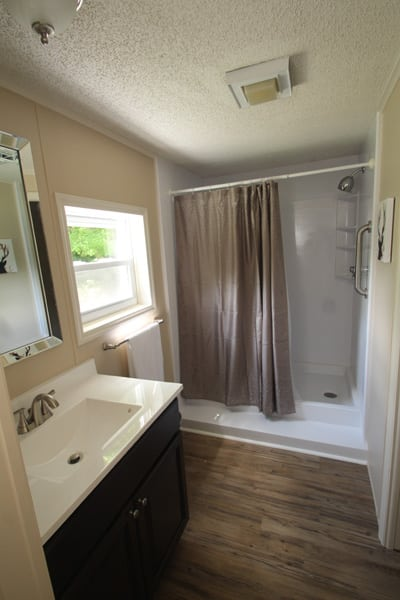 Walk in shower for those that want/need it!