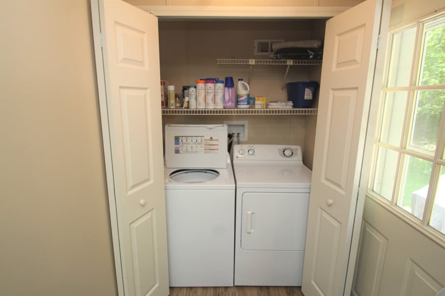 Includes a washer/dryer perfect for longer stays!