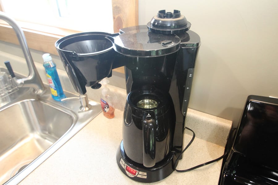 Yes, a coffee maker (cone type filter)