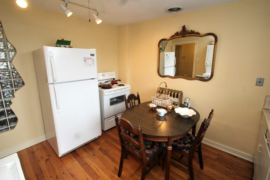 Full Kitchen with full size fridge and electric stove