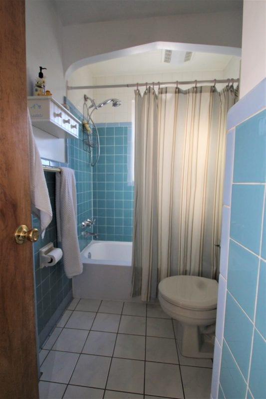 View of the common bathroom--located off queen bedroom!