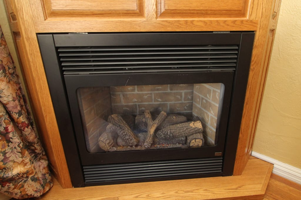 Close up of the Fireplace