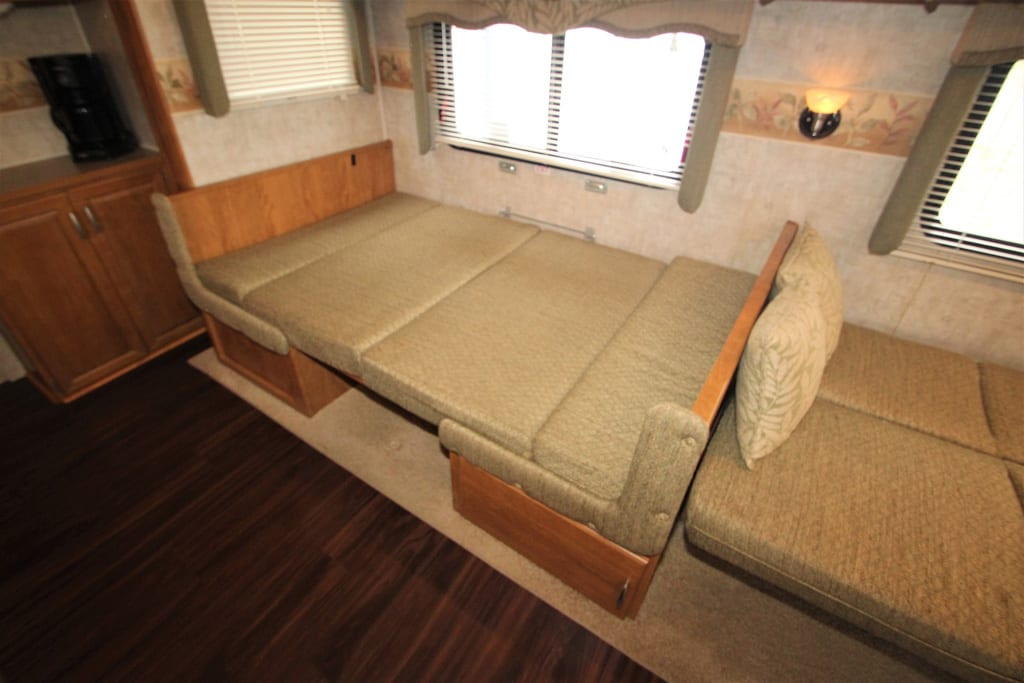 Kitchen Table Does easily convert to a twin bed as well as the sofa.