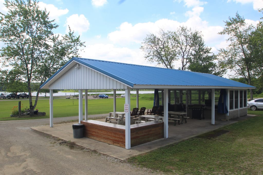 Common Area: Pavilion with picnic tables, grill and TV!