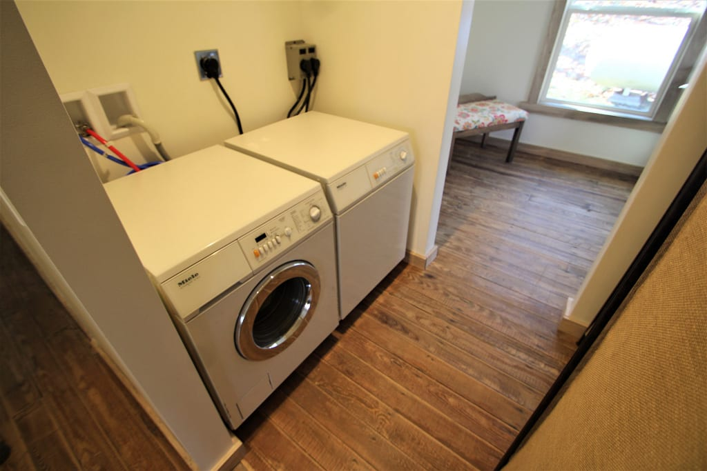 Need to do a load of laundry? Use the washer and dryer!