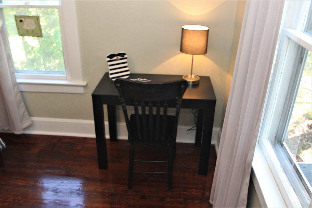 Desk area in bedroom #3.