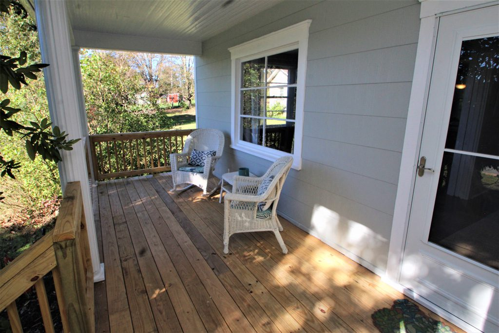 Sit down and chillax on the covered deck/porch.